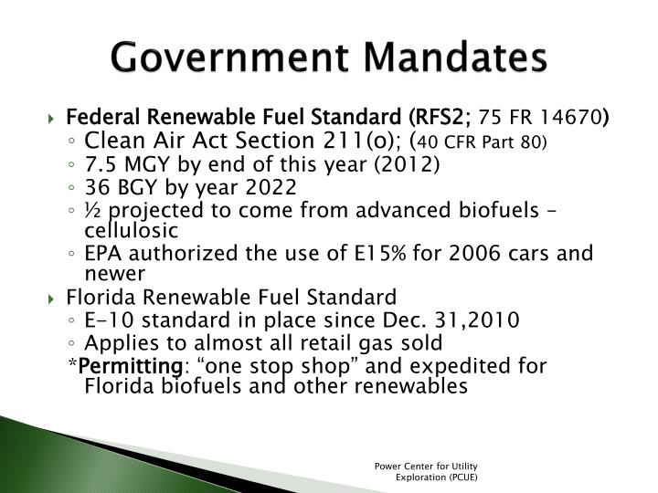Government Mandates