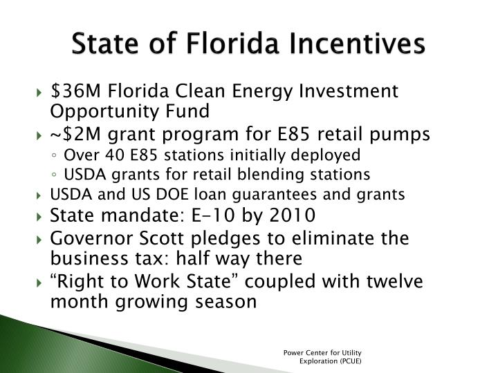 State of Florida Incentives