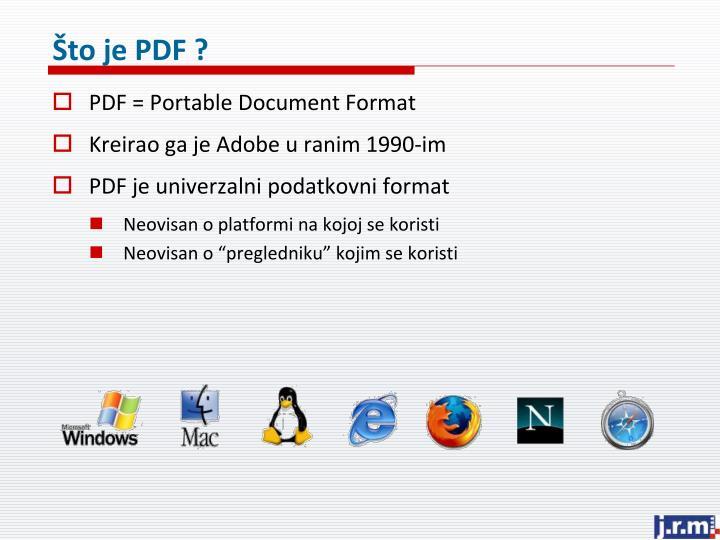 Što je PDF ?