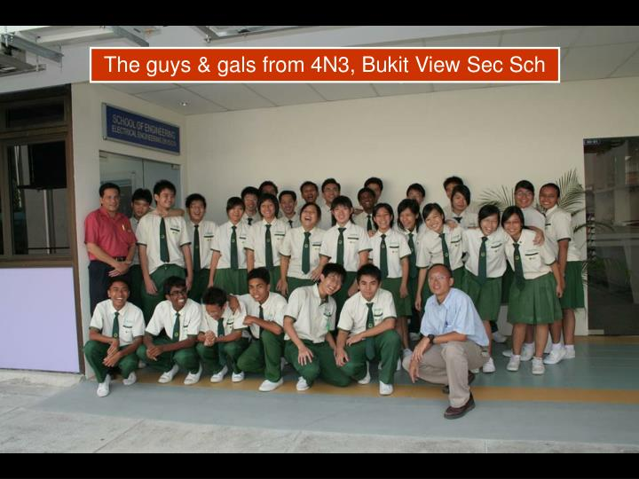 The guys & gals from 4N3, Bukit View Sec Sch