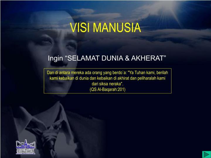 VISI MANUSIA