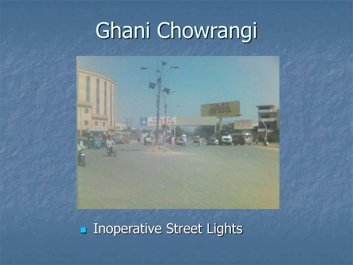 Inoperative Street Lights