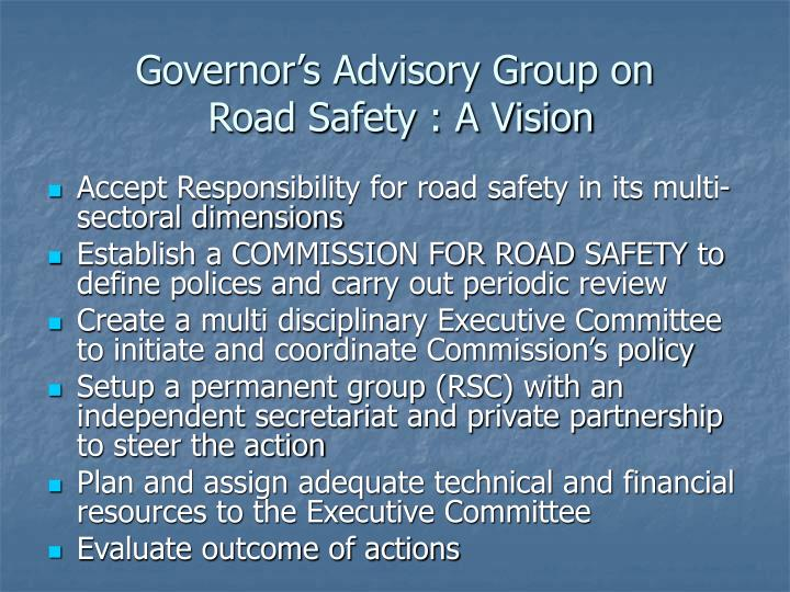 Governor's Advisory Group on