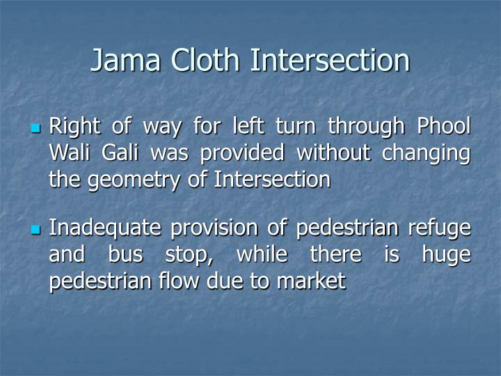 Jama Cloth Intersection