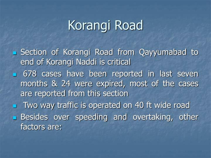 Korangi Road