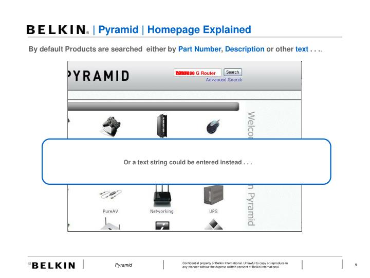 | Pyramid | Homepage Explained