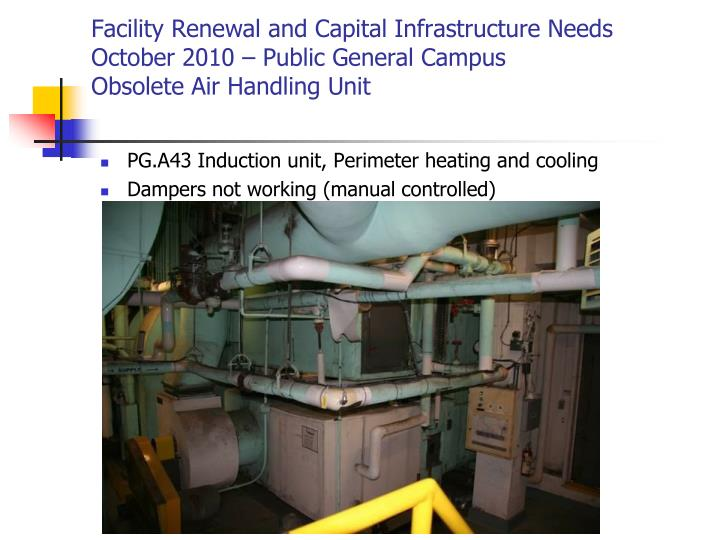 Facility Renewal and Capital Infrastructure Needs