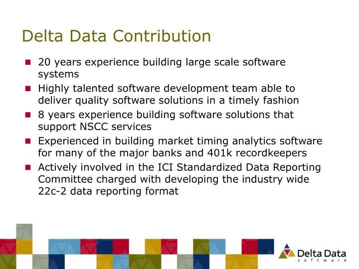 Delta Data Contribution
