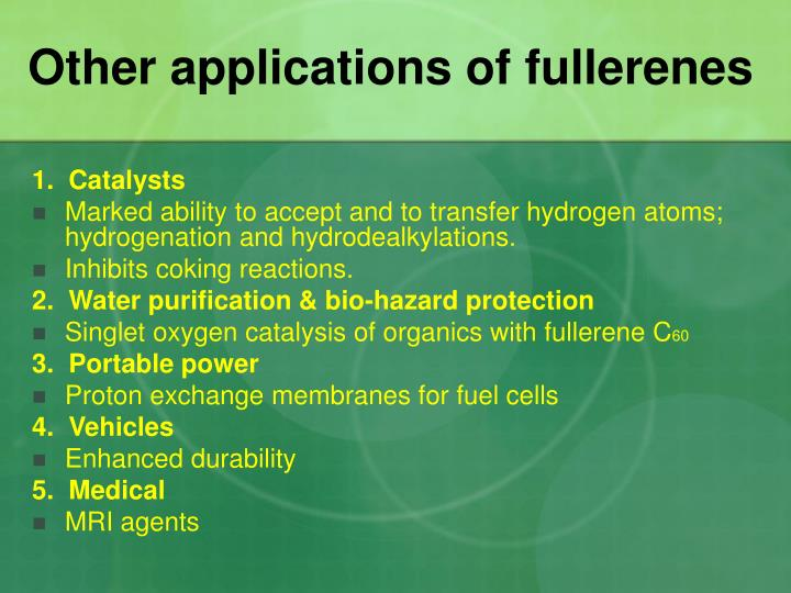 Other applications of fullerenes