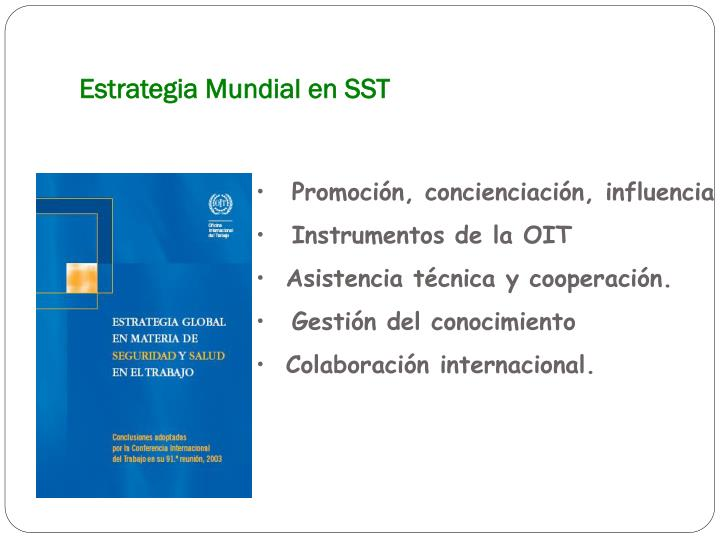 Estrategia Mundial en SST