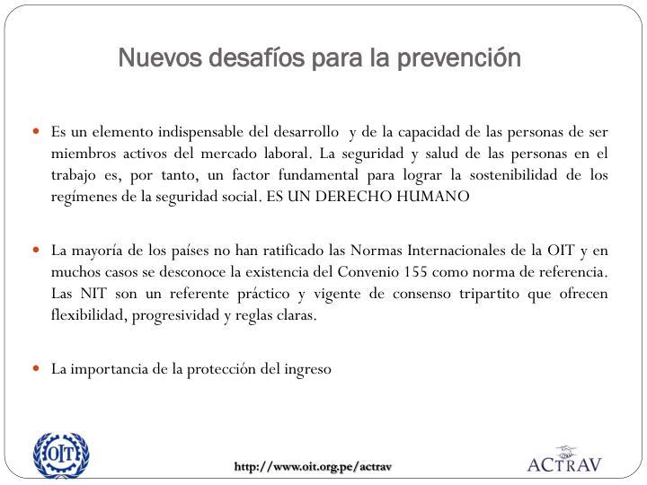 Nuevos desafíos para la prevención