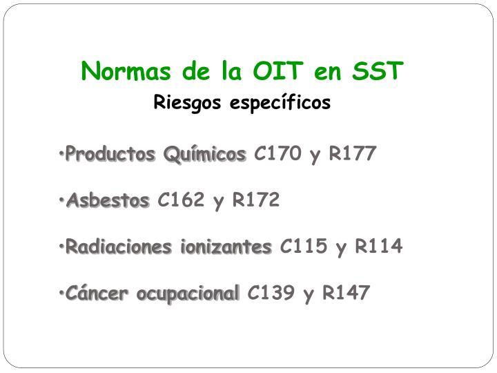 Normas de la OIT en SST