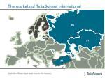 the markets of teliasonera international
