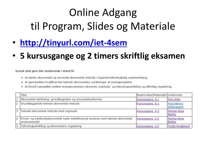 Online Adgang