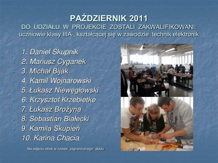 PAŹDZIERNIK 2011