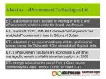 about us eprocurement technologies ltd