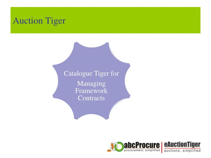 Auction Tiger