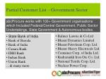 partial customer list government sector