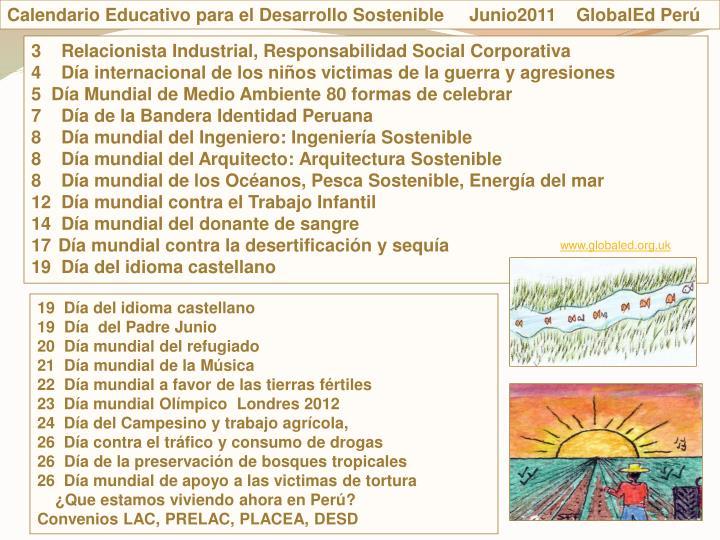 Calendario Educativo para el Desarrollo Sostenible