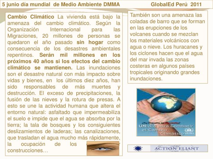 5 junio da mundial  de Medio Ambiente DMMA