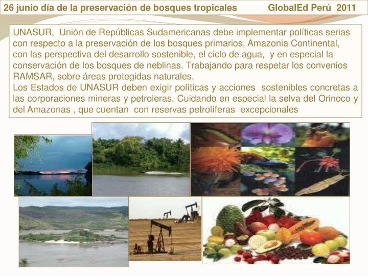 26 junio da de la preservacin de bosques tropicales