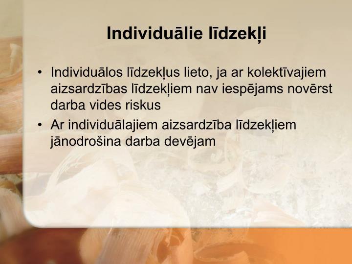 Individuālie līdzekļi