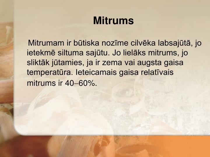 Mitrums