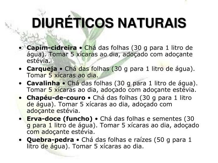 DIURÉTICOS NATURAIS