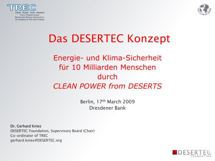 Das DESERTEC Konzept