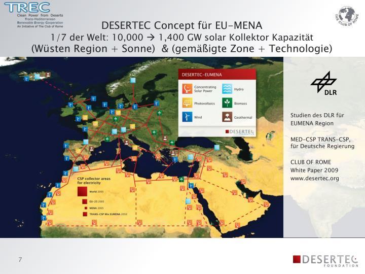 DESERTEC Concept für EU-MENA