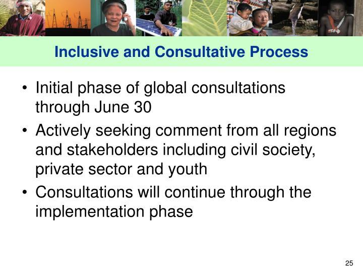 Inclusive and Consultative Process