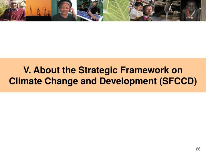 V. About the Strategic Framework on