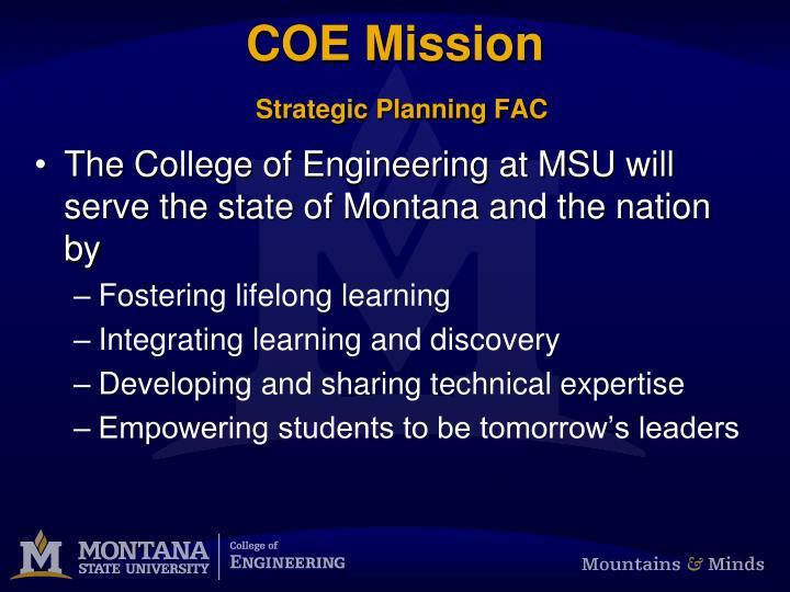COE Mission