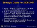 strategic goals for 2009 2014