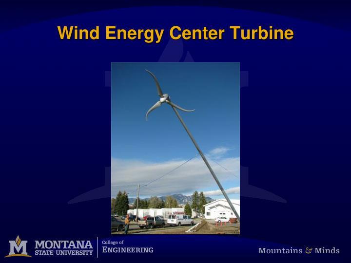 Wind Energy Center Turbine