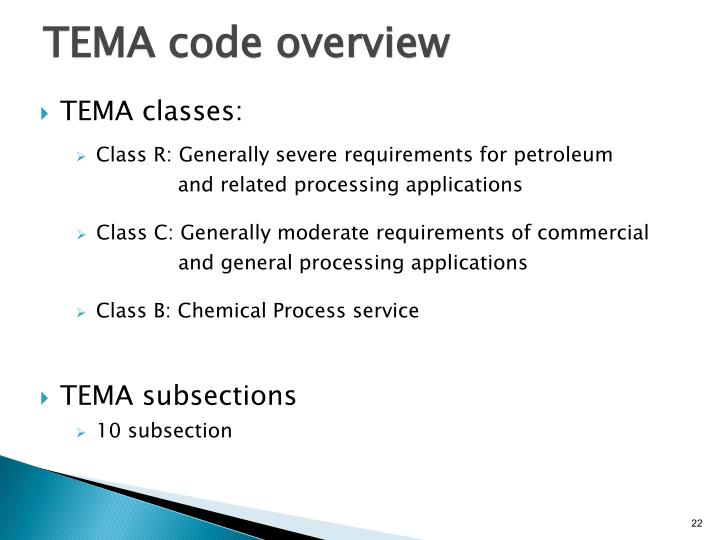 TEMA code overview
