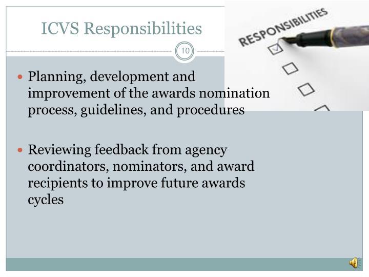ICVS Responsibilities