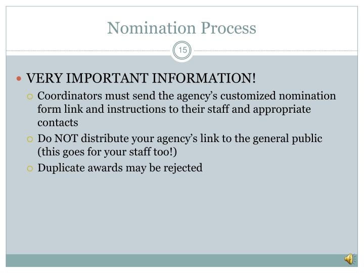 Nomination Process