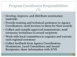 program coordinator responsibilities