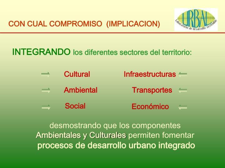 CON CUAL COMPROMISO  (IMPLICACION)