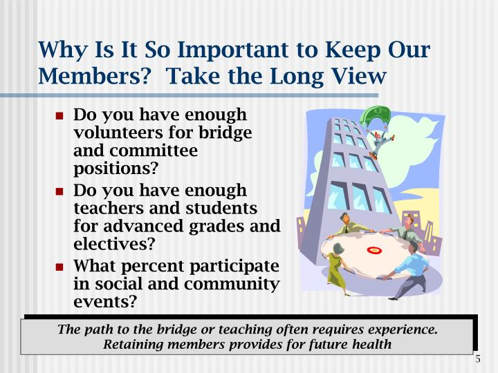 Why Is It So Important to Keep Our Members?  Take the Long View