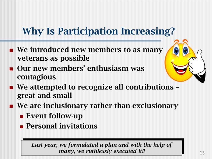 Why Is Participation Increasing?