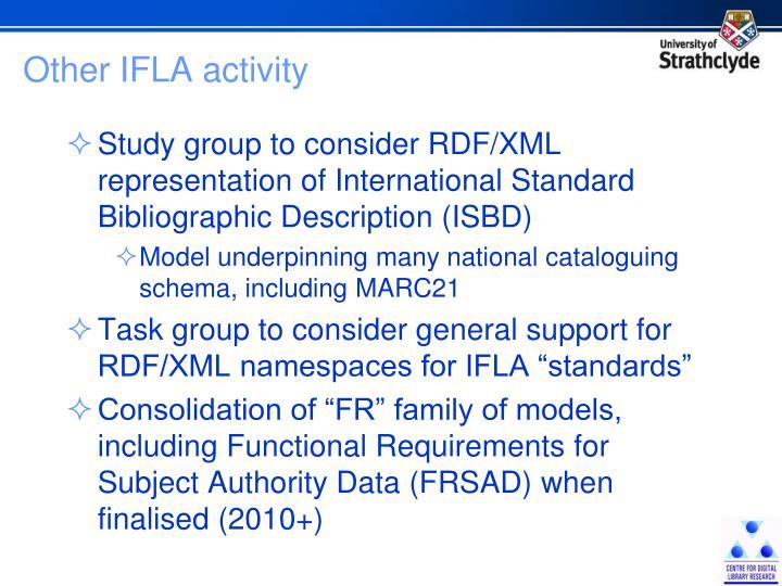 Other IFLA activity