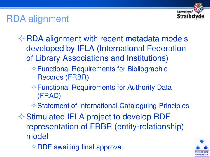 RDA alignment