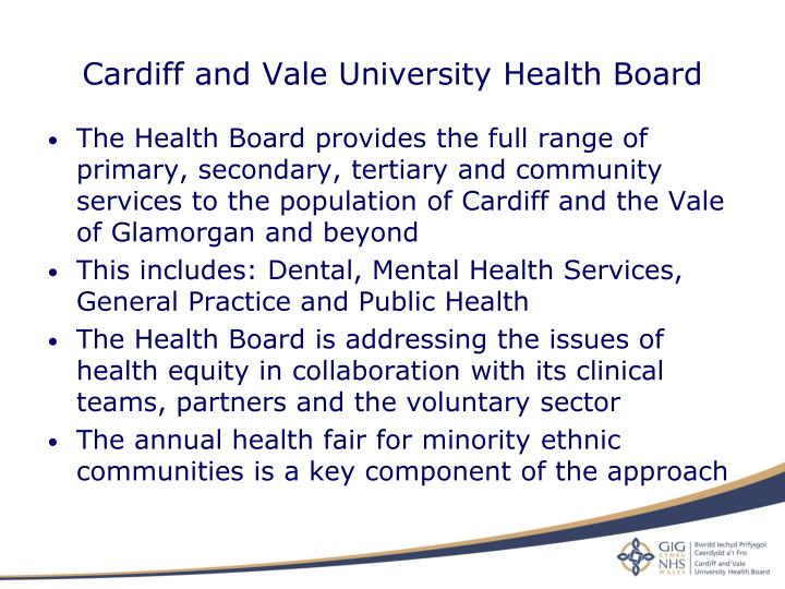 Cardiff and Vale University Health Board