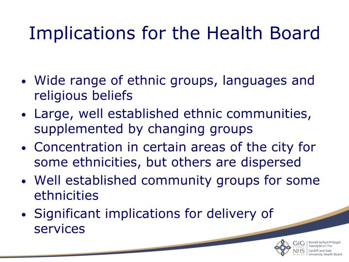 Implications for the Health Board