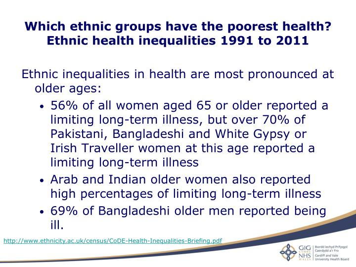 Which ethnic groups have the poorest health?