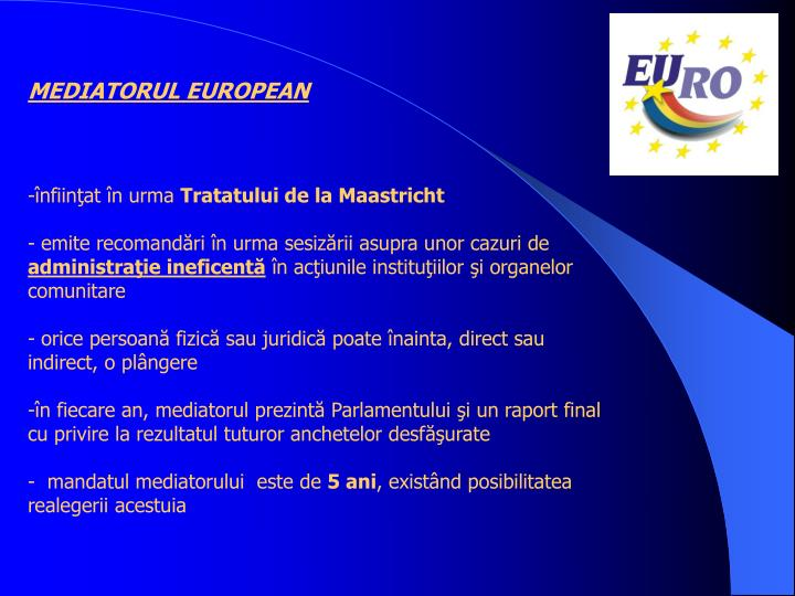 MEDIATORUL EUROPEAN