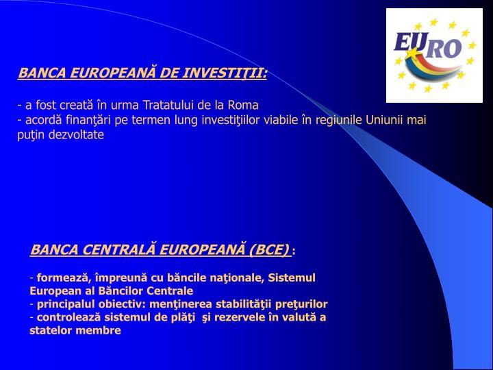BANCA EUROPEANĂ DE INVESTIŢII:
