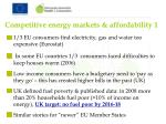 competitive energy markets affordability 1